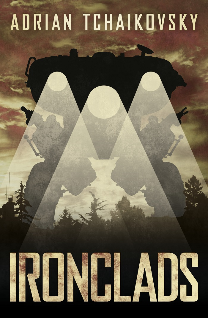 Ironclads front cover, 2017, by Adrian Tchaikovsky
